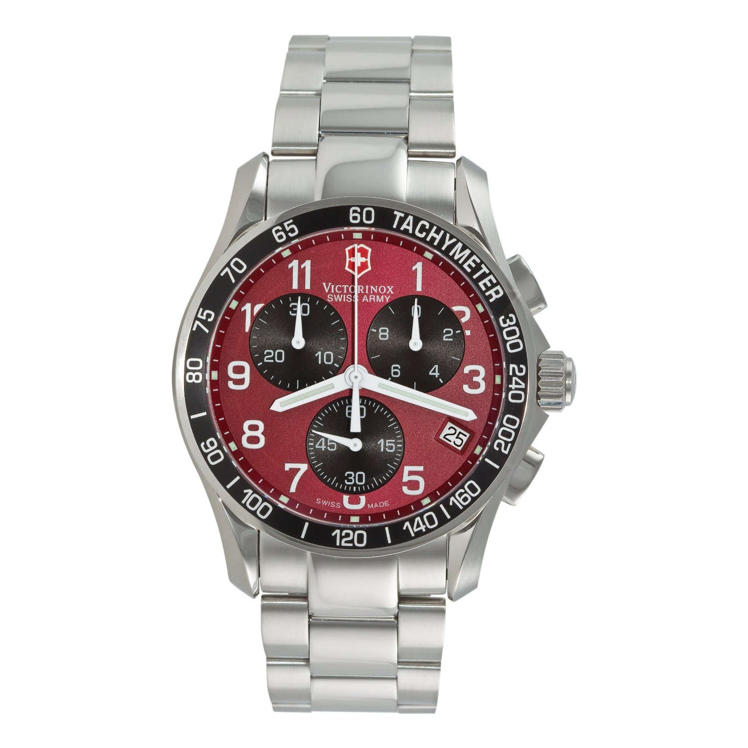 Victorinox Swiss Army Men's 241148 Chronograph Classic Red Dial Wrist Watch
