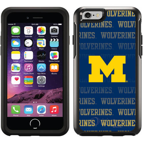 Michigan Repeating Design on OtterBox Symmetry Series Case for Apple iPhone 6