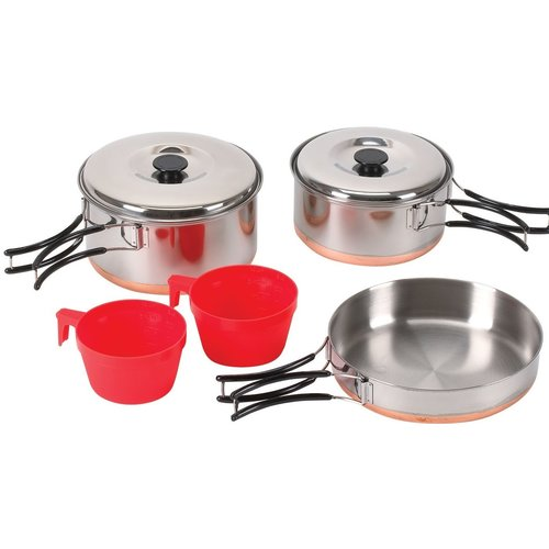 Stansport Stainless-Steel and Copper Cookware Set, 7-Piece by Stansport