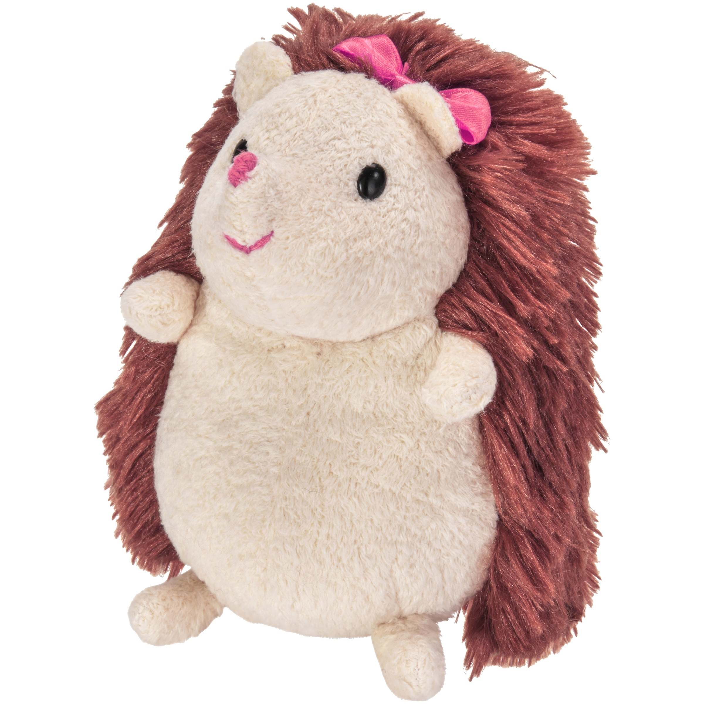 My Life As Plush Pet Hedgehog, Brown & Cream with Pink Accents