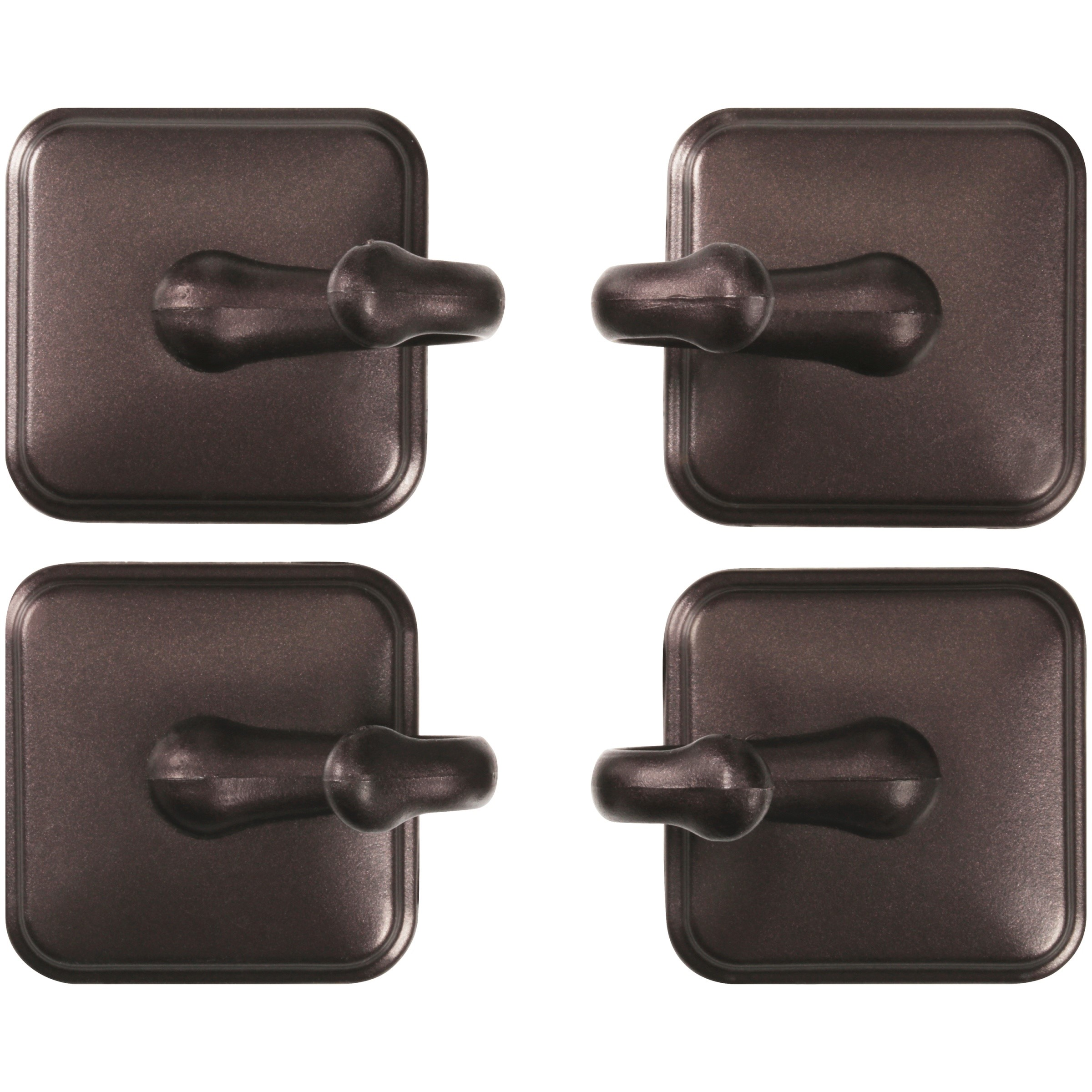 Mainstays™ Bronze Finish Hooks 4 ct Carded Pack