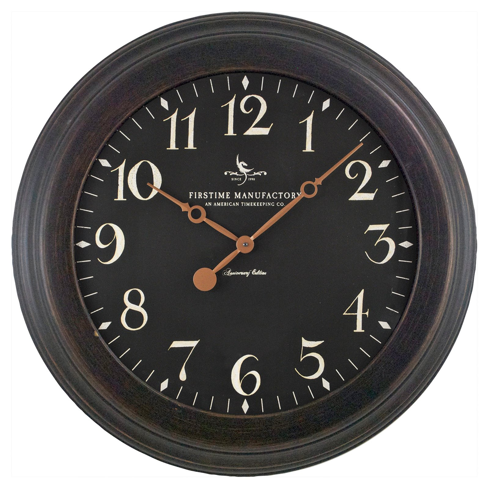 FirsTime Black Onyx Wall Clock