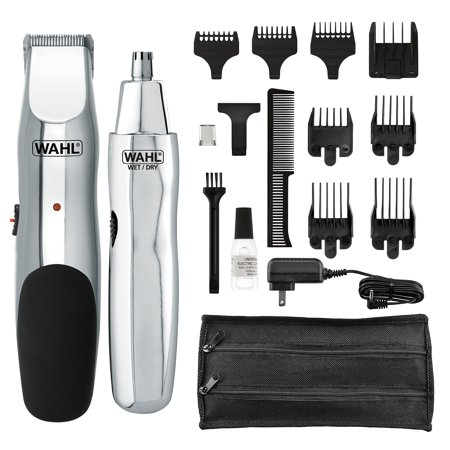 Wahl Groomsman Rechargeable Beard, Mustache, Nose Hair Trimmer For Detailing & Grooming - By The Brand Used By Professionals - Model 5622 Rechargable