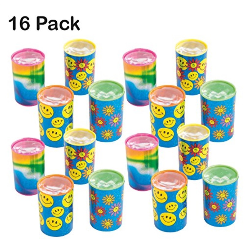 Mini Kaleidoscope Prism Toy 1.75 Inches - Pack Of 16 - Assorted Colors And Designs Mini Prism - For Kids Great Party Favors, Bag