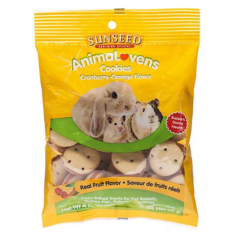 Sun Seed AnimaLovens Cookies Rabbit, Guinea Pig, Rat & Hamster Treat, 4 oz (pack of 1) by