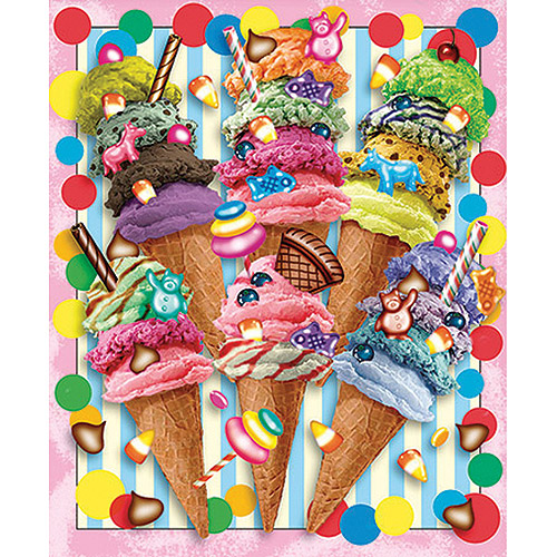 White Mountain Puzzles Ice Cream Candy Swirls, 550-pieces