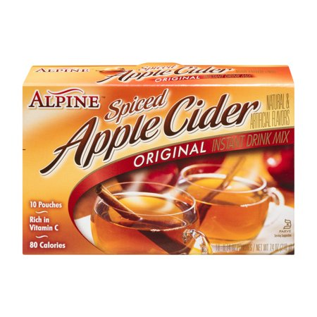 (3 Pack) Alpine Spiced Cider Apple Flavor Drink Mix, 10-Count, 7.4-Ounce