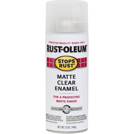Rust-Oleum Matte Clear Enamel Spray, Clear ()