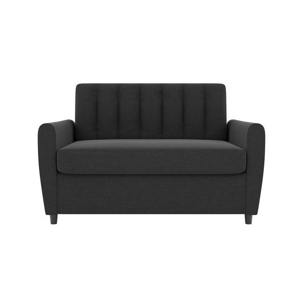Novogratz Brittany Loveseat Sleeper Sofa with Memory Foam ...