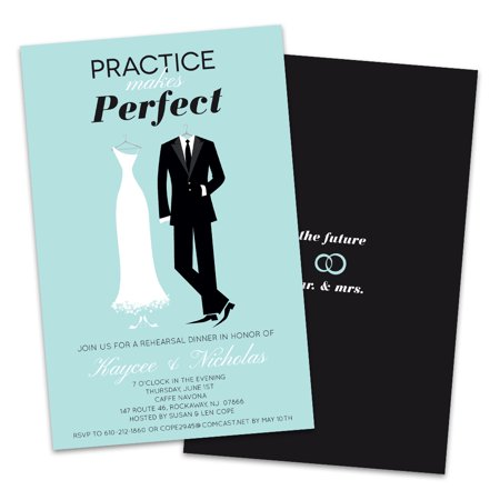 Practice Makes Perfect Rehearsal Dinner Invitation Destination Rehearsal Dinner Invitations