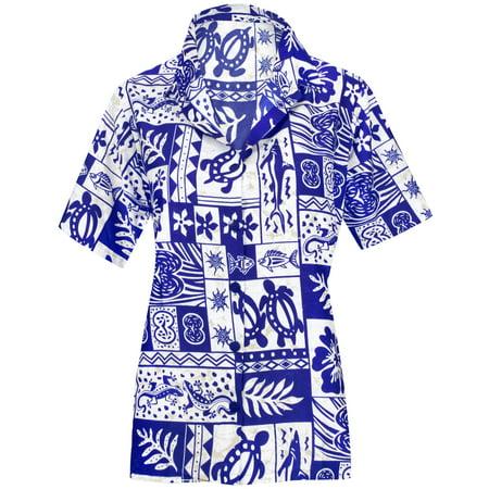 edfc2e6c4 Top Women Hawaiian Shirt Beach Blouses Tank Casual Aloha Boho Holiday Loose  Fit - Walmart.com
