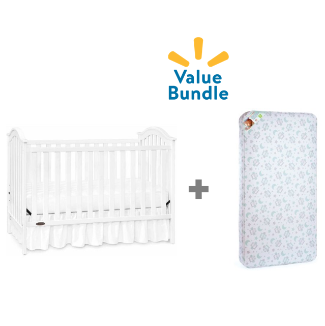 Graco Ashland Convertible Crib + Sealy Mattress Value Bundle