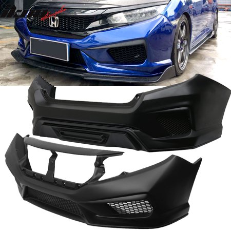 Fits 16-18 Civic Sedan Gen X Concept Style Front & Rear Bumper Conversion Kit PP