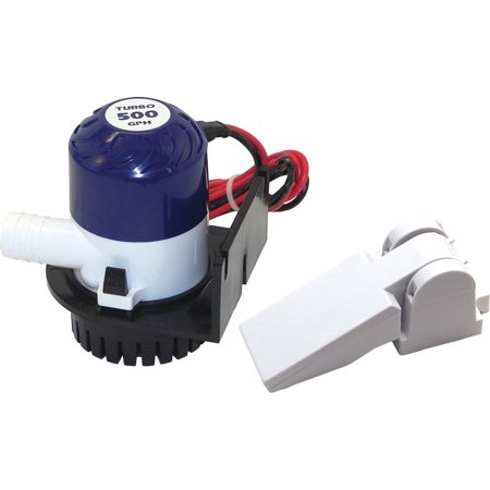 Shoreline Marine Bilge Pump w Auto-Float Switch 600 GPH 3/4 in