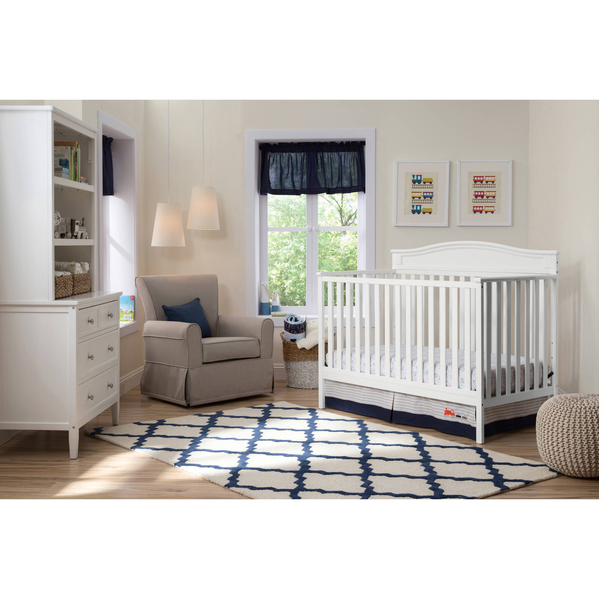 Delta Children Larkin 4-in-1 Crib, (Choose Your Finish)