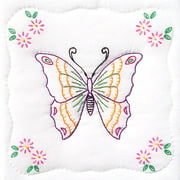 "Stamped White Quilt Blocks, 9"" x 9"", 12pk, Butterfly"
