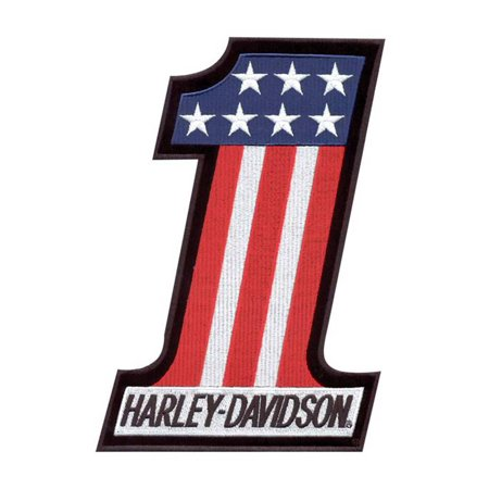 Harley-Davidson #1 Red, White & Blue X-Small Patch EM227841, Harley Davidson ()