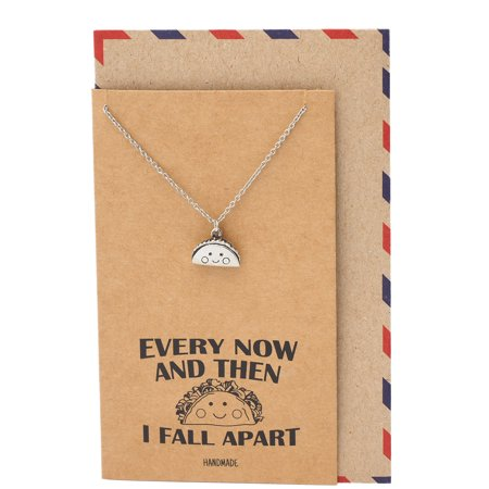 Quan Jewelry Taco Pendant Necklace Every Now And Then I Fall Apart Jewelry, Gifts for taco Lovers, Gifts for Women](Cheetah Girls Now And Then)