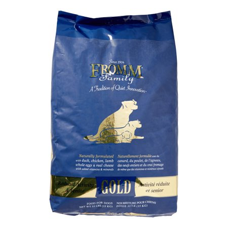 Fromm Gold Reduced Activity & Senior Duck, Chicken, Fish & Lamb Senior Dry Dog Food, 33 Lb
