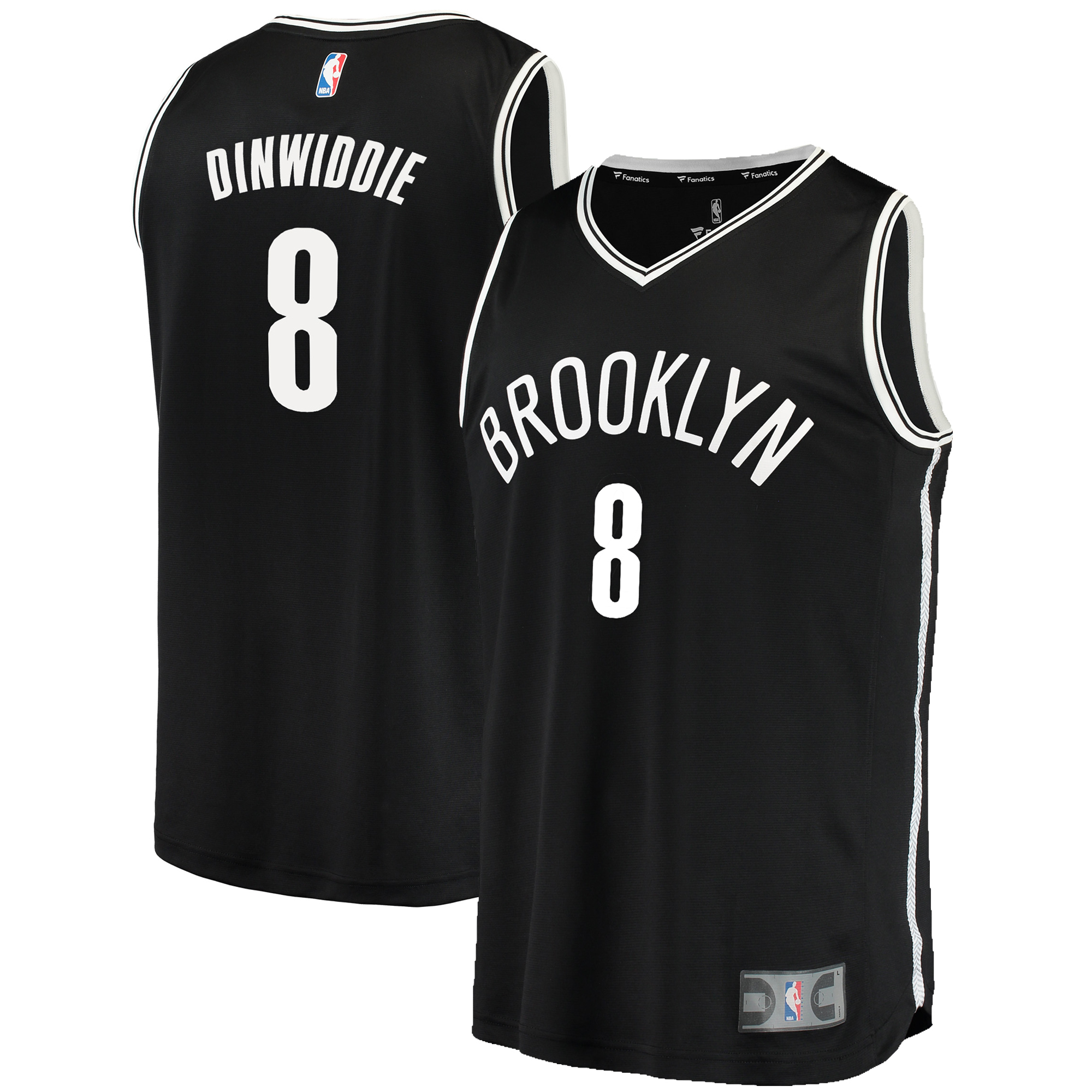 reputable site 684e1 1ac14 Brooklyn Nets Spencer Dinwiddie Fanatics Branded Youth Fast Break Player  Jersey - Icon Edition - Black