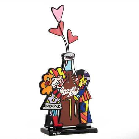 Britto Coca-Cola Boy Girl Hugging Coke Bottle with Love Figurine 4043878