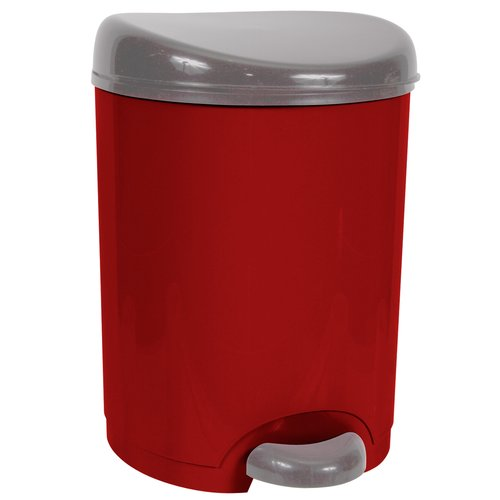 Hefty 2-Gallon Step-On Waste Can, Red