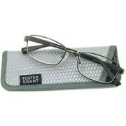 Foster Grant Men's Manning Reading Glasses, Gray