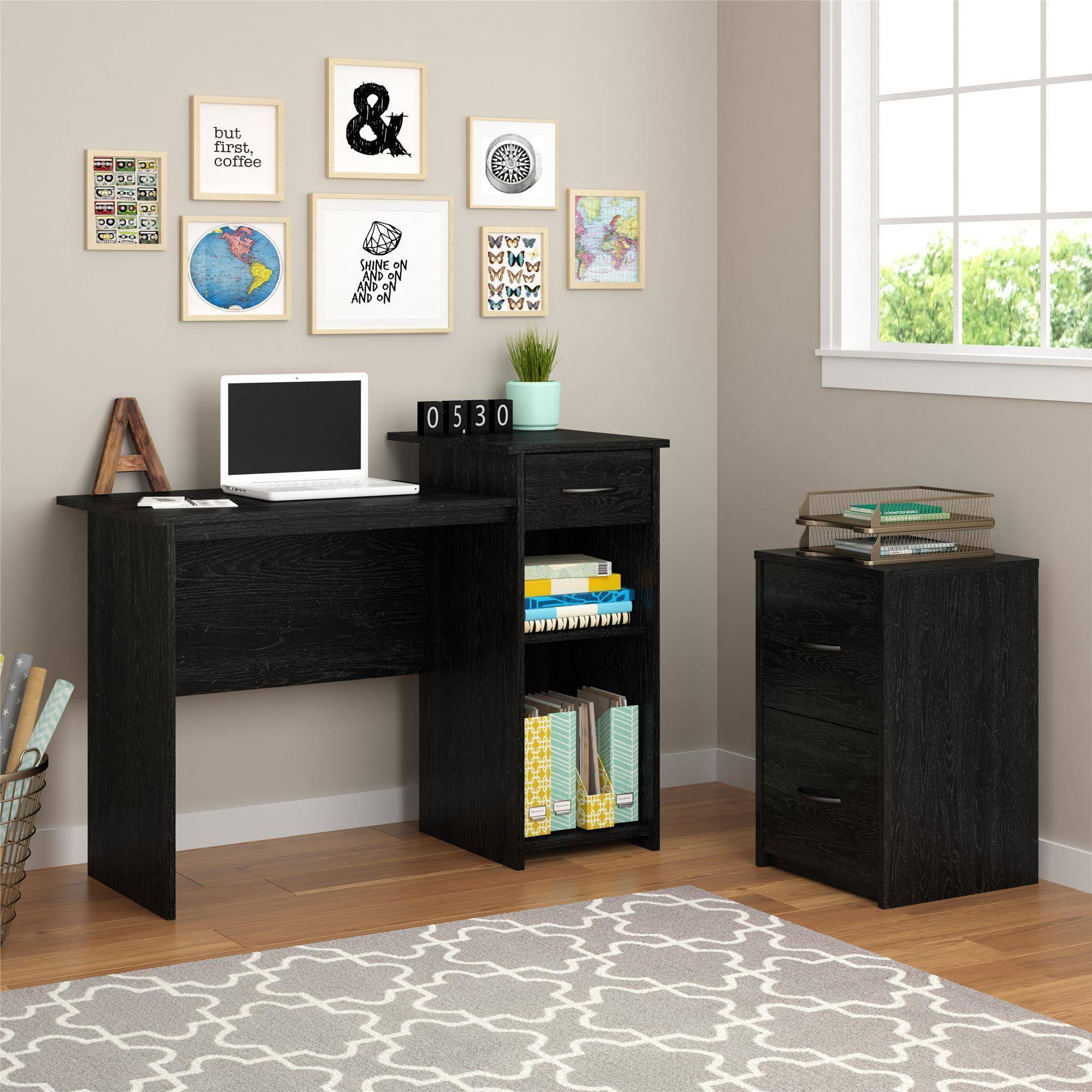 mainstays student desk with your choice office chair walmart com rh walmart com mainstays student desk instructions mainstays student desk multiple finishes