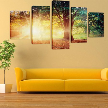 5 in 1 Huge Modern Abstract Wall Decor Art Oil Painting On Canvas (No Frame)