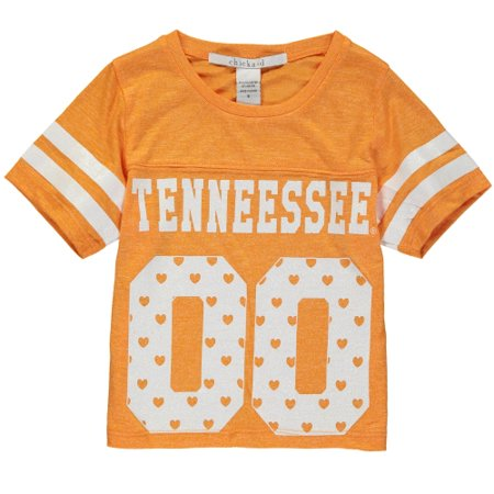 Tennessee Volunteers chicka-d Girls Youth Boxy Cropped Top - Tennessee Orange - 12