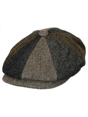 Product Image Baby Herringbone Patchwork Wool Blend Newsboy Cap - 48cm  (18-24 M) - 7dd3169834c