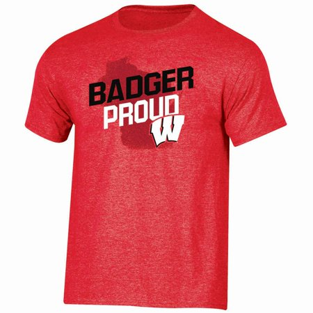 Men's Russell Red Wisconsin Badgers Slant