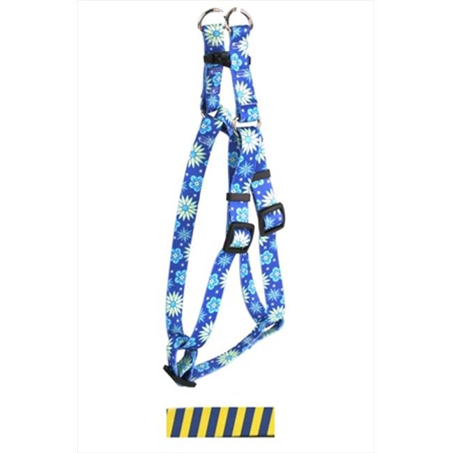 Yellow Dog Design SI-TSBY101S Team Spirit Blue and Yellow Step-In Harness - Small