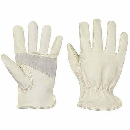 - Custom Leathercraft Medium Top Grain Pigskin Driver Men's Work Gloves