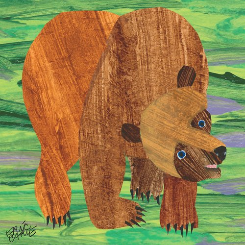 Eric Carle Brown Bear 2 Art Print on Premium Canvas