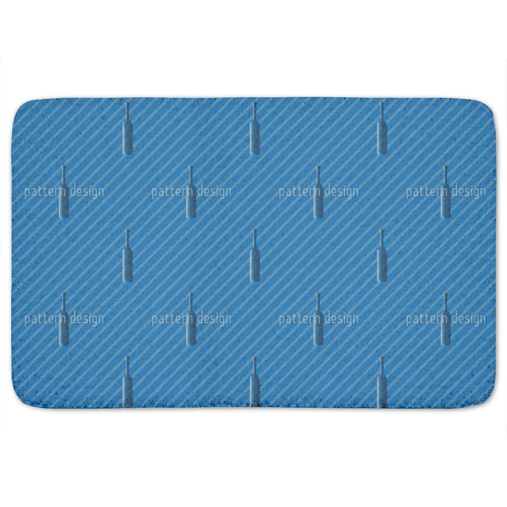 Uneekee Bottles And Stripes Bath Mat