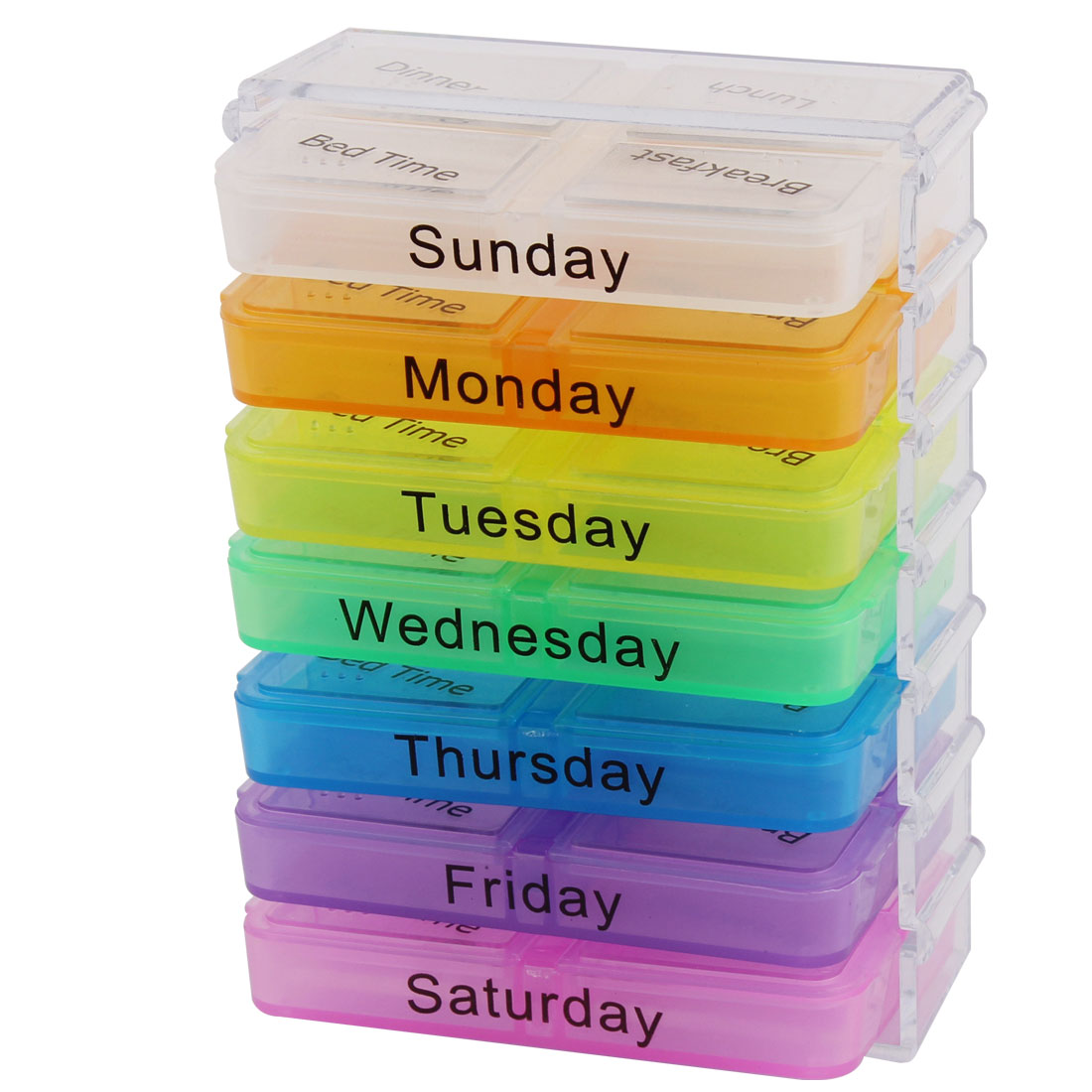 28 Slots Pill Box Holder Medicine Storage Container Case Colorful