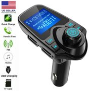 Bluetooth Car FM Transmitter Audio Adapter Receiver Wireless Hands Free Car Kit