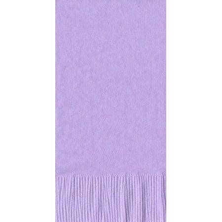 200 -  (4 Pks of 50) 2 Ply Plain Solid Colors Dinner Hand Towel Napkins Paper - Lavender - Dinner Paper Napkins