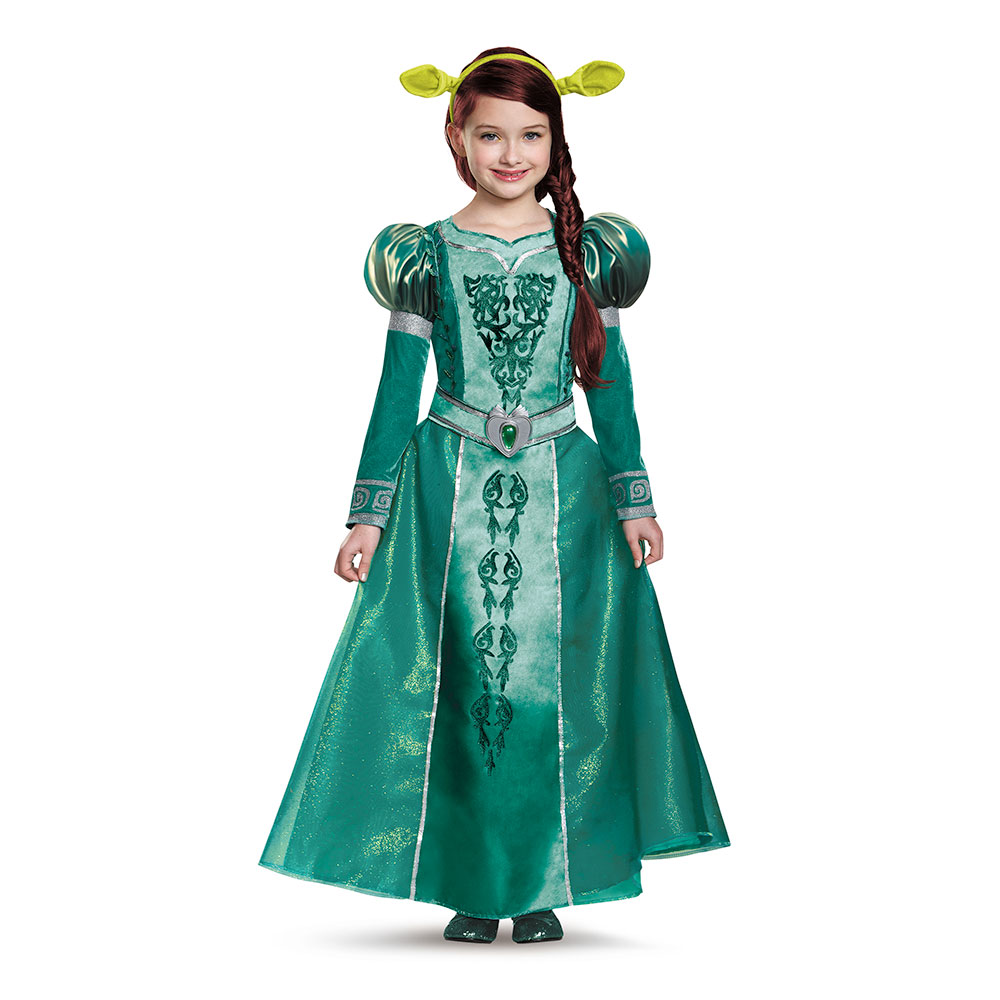Girls Shrek Deluxe Fiona Costume sz Large 10-12