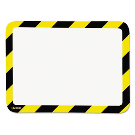 Tarifold P194944 High Visibility Safety Frame Display Pocket-Magnet Back, 10.25 x 14.5, Yellow & Black