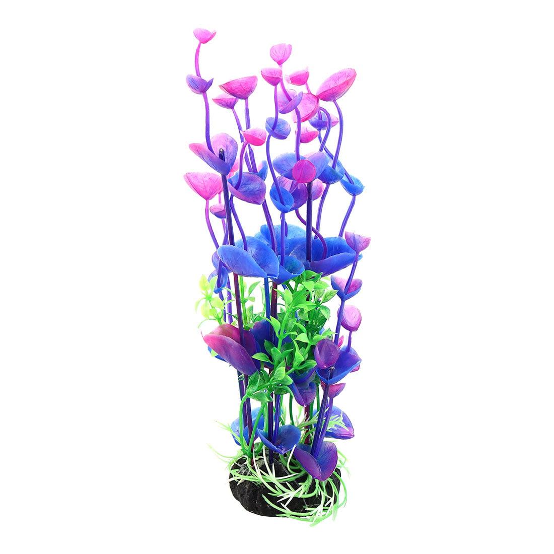 "Purple Green 8.3"" Landscaping Plant Decoration for Aquarium Fish Tank"