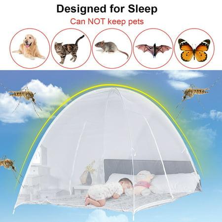 Gymax Portable Folding Mosquito Net Tent Bed Anti Zipper Mosquito Bites POP UP Net - image 7 de 9