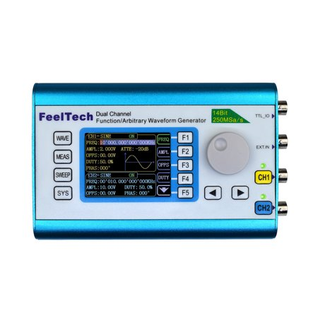 Signal Analysis Meter (High Precision Digital DDS Dual-channel Multifunction Signal Source Generator Arbitrary Waveform/Pulse Generator Frequency Meter 250MSa/s)