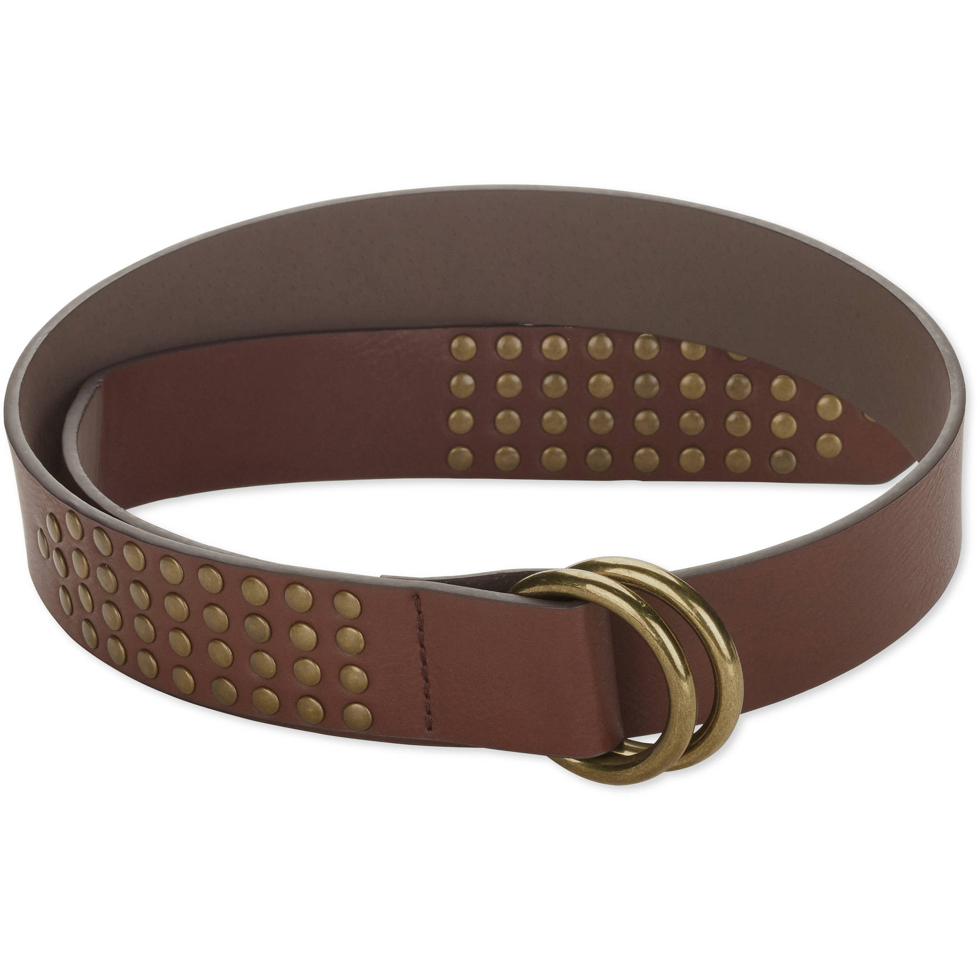 Faded Glory Womens Studded D Ring  Belt