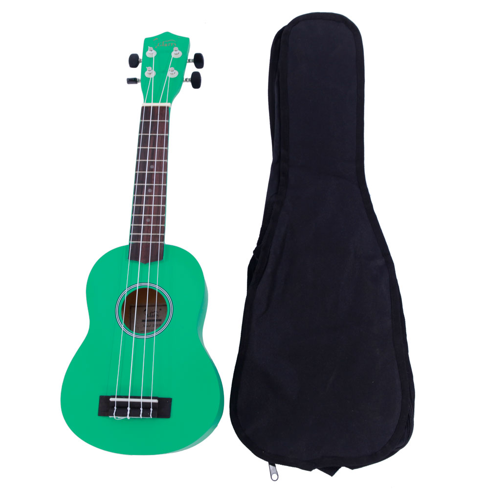 "Glarry UK101 21"" Basswood Ukulele Musical Hawaiian Guitar with Bag Multi-color"