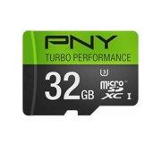 PNY U3 Turbo Performance 32GB High Speed MicroSDHC Class 10 UHS-I, up to 90MB/sec Flash Card (P-SDU32GU390G-GE)