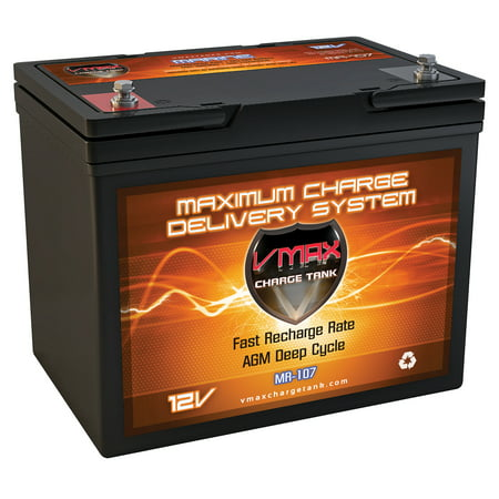 - VMAX MR107-85 12V 85AH AGM Deep Cycle Marine Battery for Motorguide X3 Freshwater Foot Control Bow Mount 45lbs 12V Trolling Motor