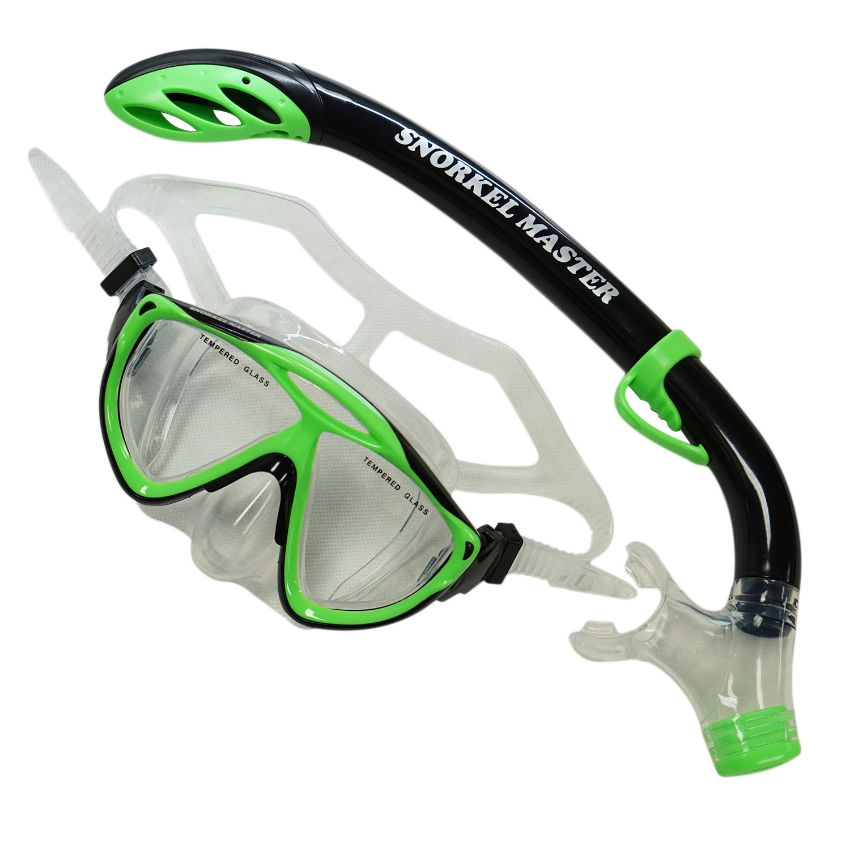 Snorkel Master Snorkeling Kids Mask & Semi-Dry Snorkel Combo by Scuba Choice