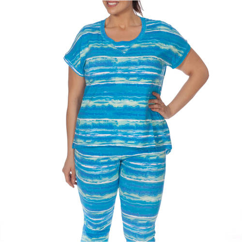 Plus Moda Women's Plus-Size Tie Dye Summer Love Tee